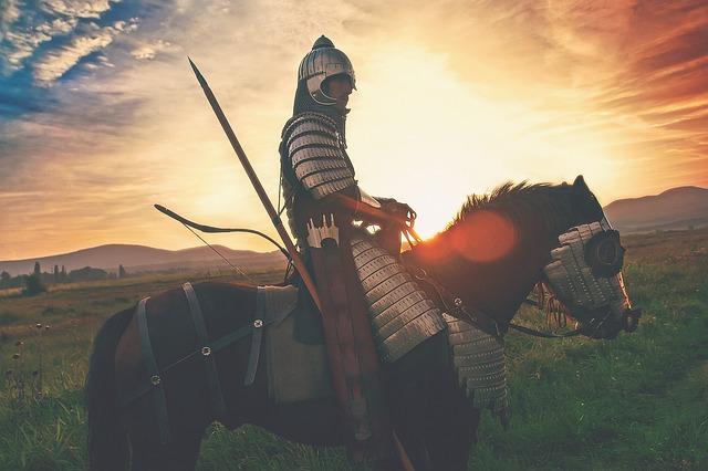 馬に乗る騎士
