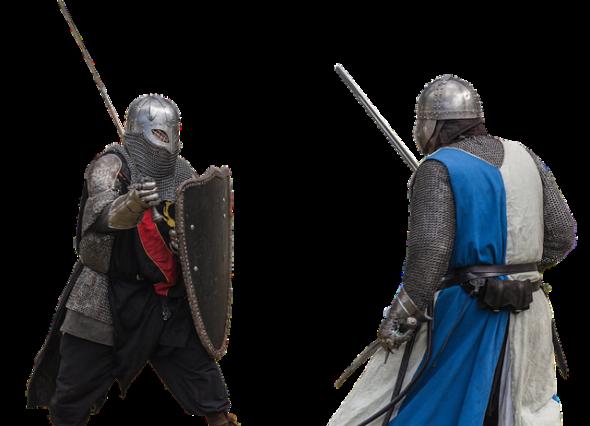 対峙する騎士